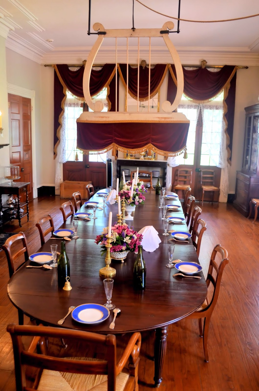A Punkah Fan Hangs Over This Long Dining Room Table When The Family Had Slaves House Slave Would Sit In Corner And Pull On Rope