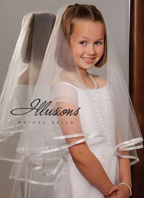 Illusions -Flower Girl & First Communion Veils 2012