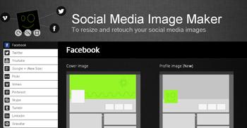 crea portadas para Facebook gratis con Image Maker