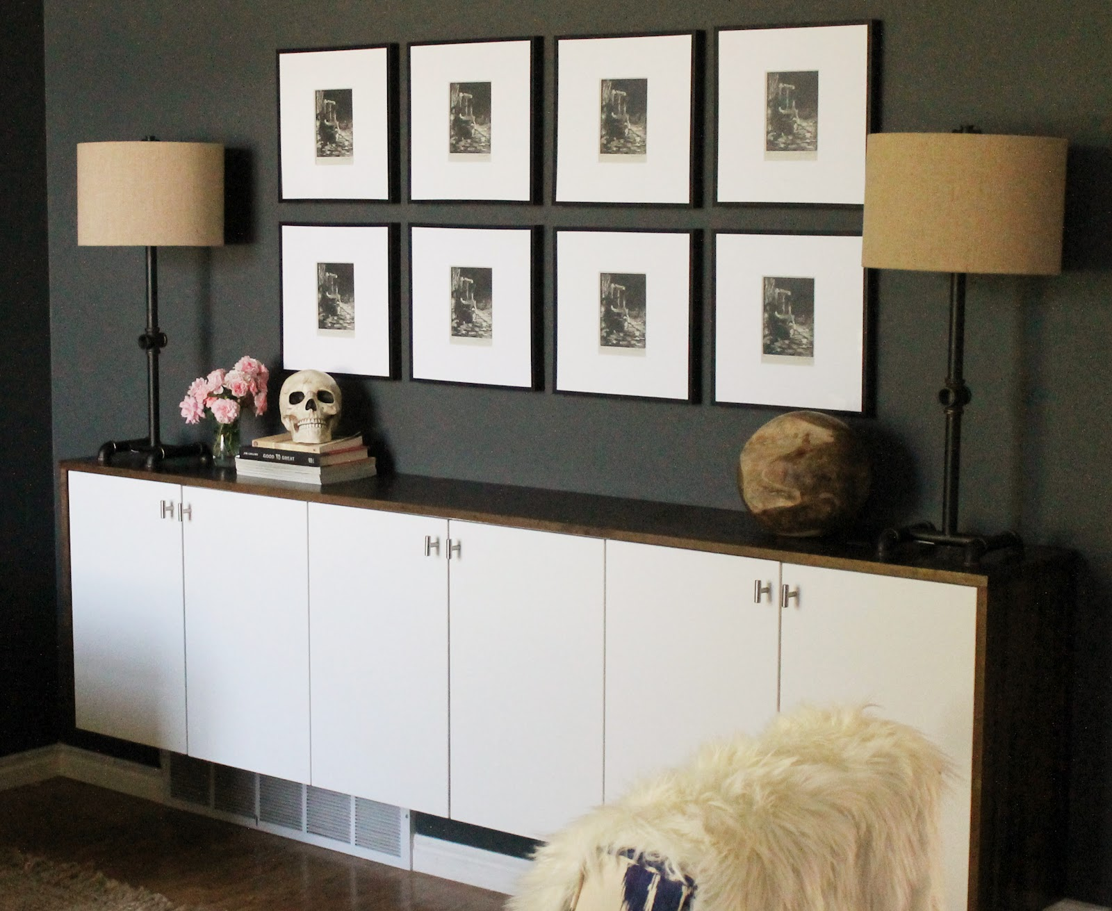 Our Styled Credenza: Industrial Chic Meets Dia De Los Muertos.