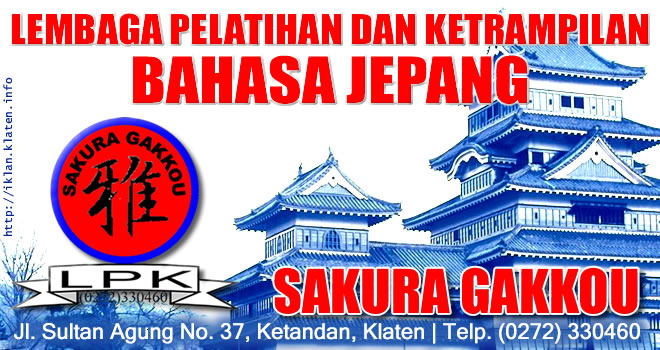 Kursus Bahasa Jepang Sakura Gakkou