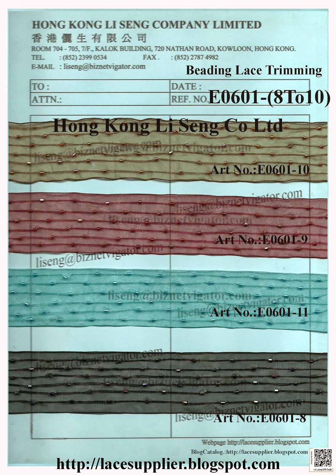 Beading Organza Lace Trimming Wholesale - Hong Kong Li Seng Co Ltd