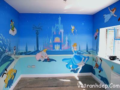 vẽ tranh tường,vẽ tranh tường mẫu giáo,vẽ tranh tường cho bé