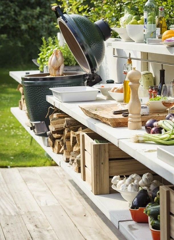 Boiserie c cucinare in giardino 15 soluzioni for Soluzioni giardino