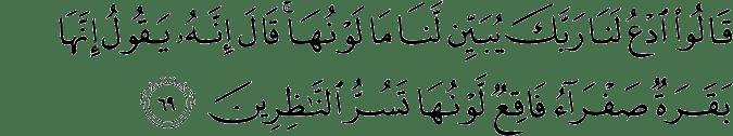Surat Al-Baqarah Ayat 69