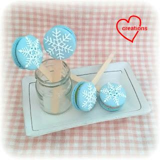 ... for You: Snowflake Earl Grey & Matcha White Chocolate Macaron Pops