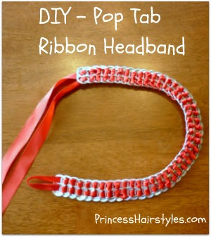 pop tab headband with ribbon