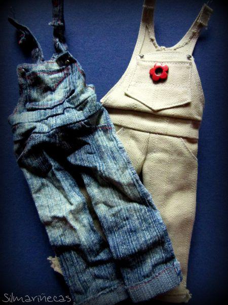 petos vaquero oversize para blythe o basaak doll