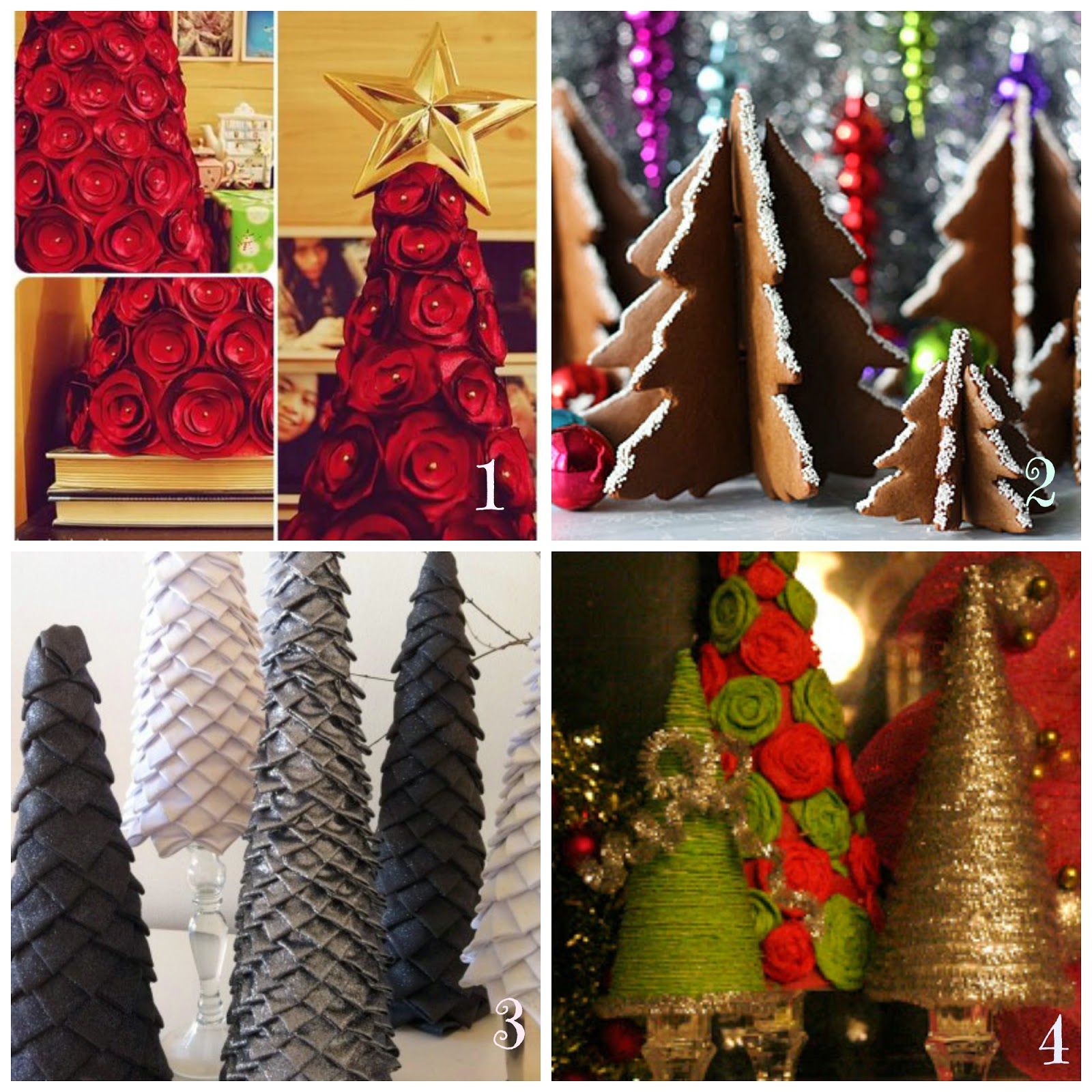 Popolare Decorazioni natalizie fai da te - Insoliti alberi di Natale  TS05