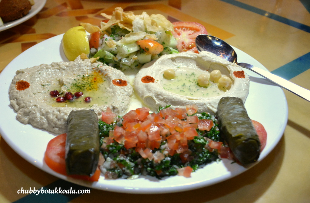 cold mezza platter top fattoush middle eastern salad dish middle ...