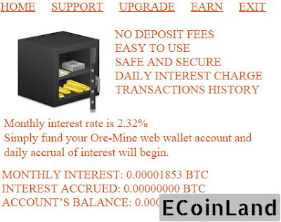 daily accrual and monthly interest at free satoshi ore mine game