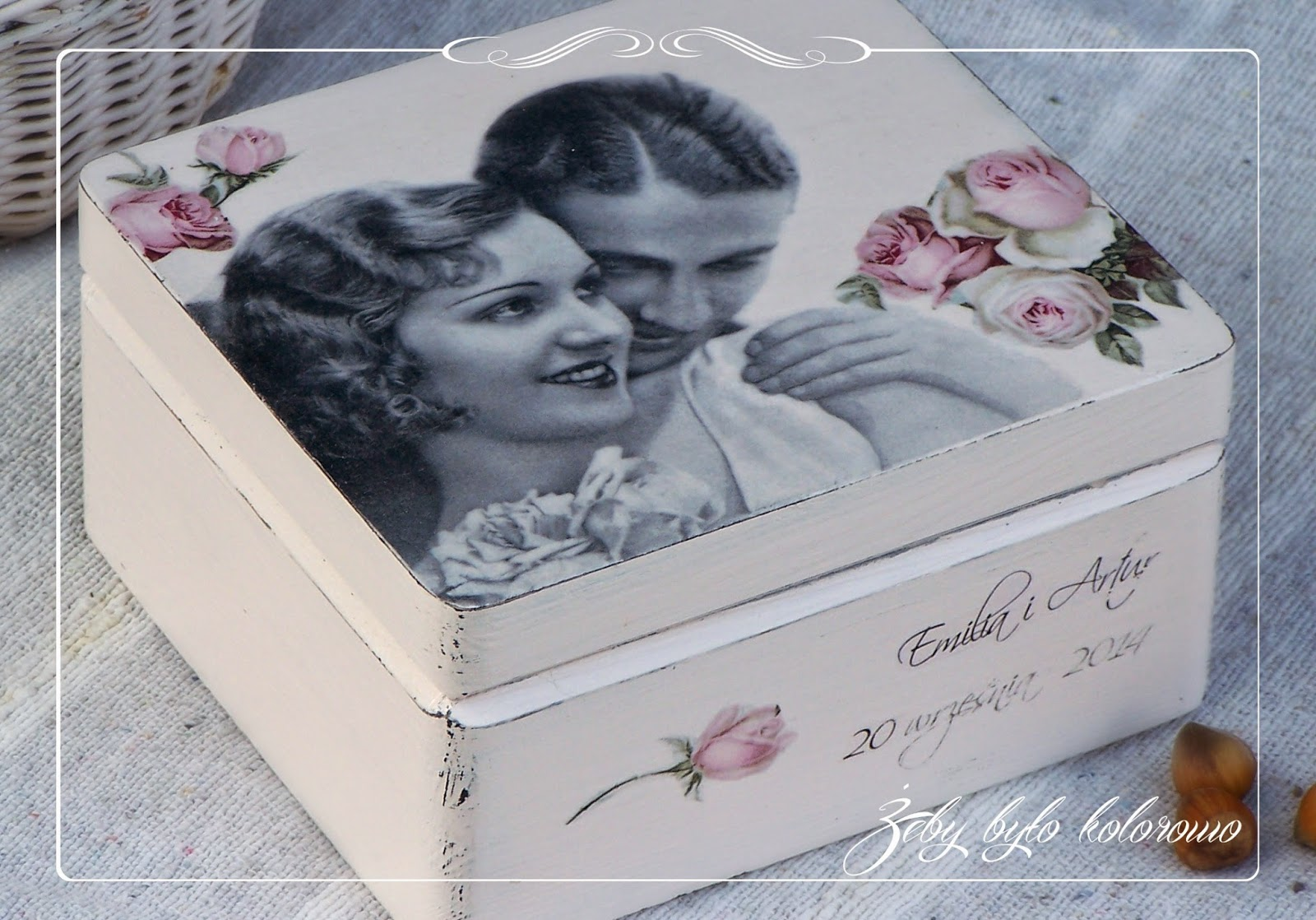 wedding decoupage