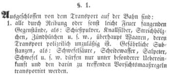 §1.1 des Betriebs-Reglements für den Güter-Verkehr der DEEG von 1845