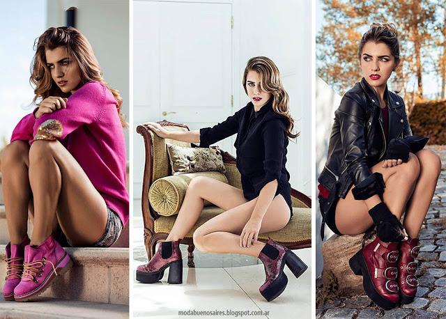 Botinetas, borcegos y botas otoño invierno 2016 Pamuk. Moda otoño invierno 2016 zapatos y botas.