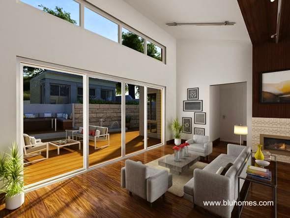 Vista del interior de la casa estilo Contemporáneo