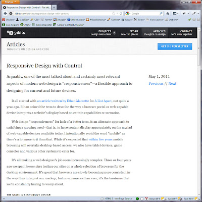 Screen shot of http://51bits.com/articles/responsive-design-with-control/.