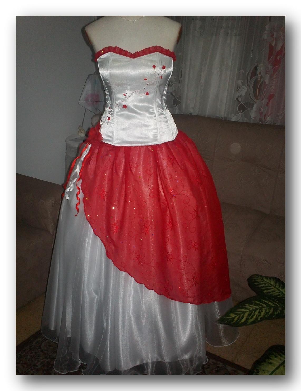 Imagenes de vestidos de 15 rojo y blanco
