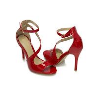Sandale de ocazie dama rosii Odea cu toc de 10 centimetri