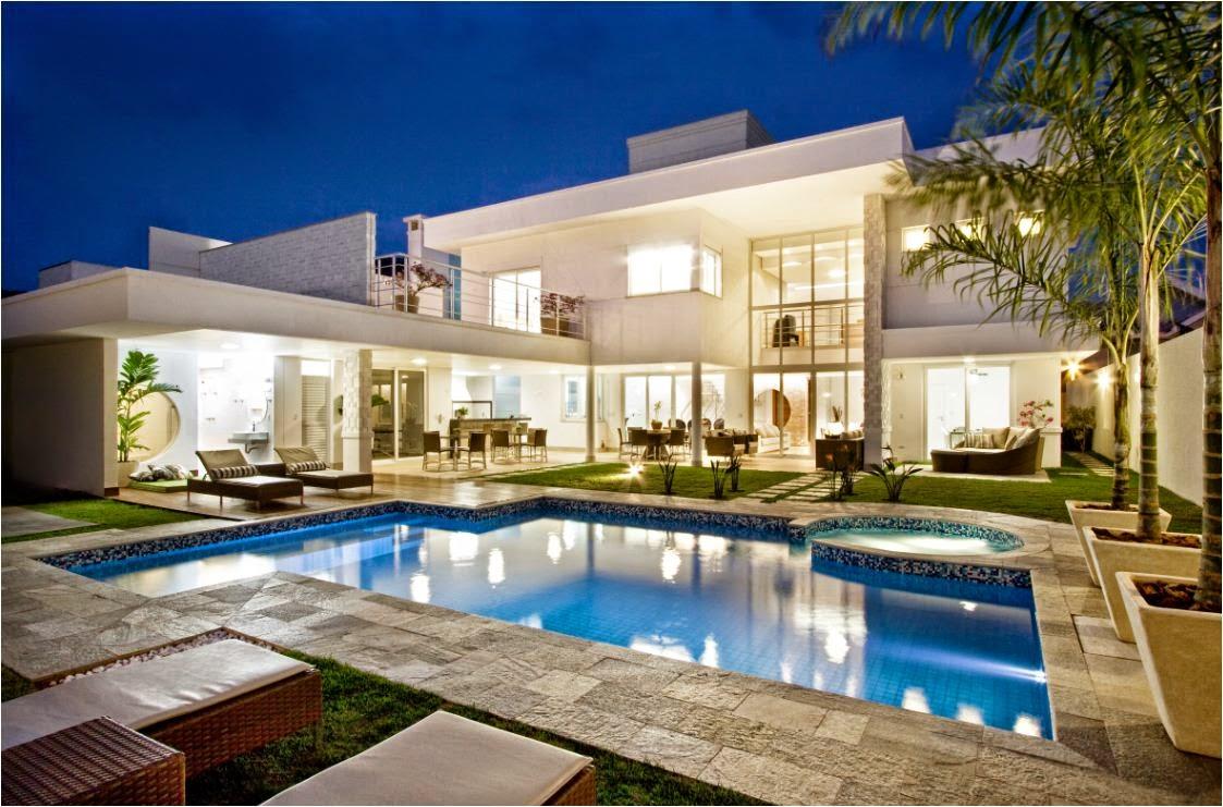 Ademim veis imobili ria as mais belas mans es do mundo for Fachadas de casas modernas tipo americano
