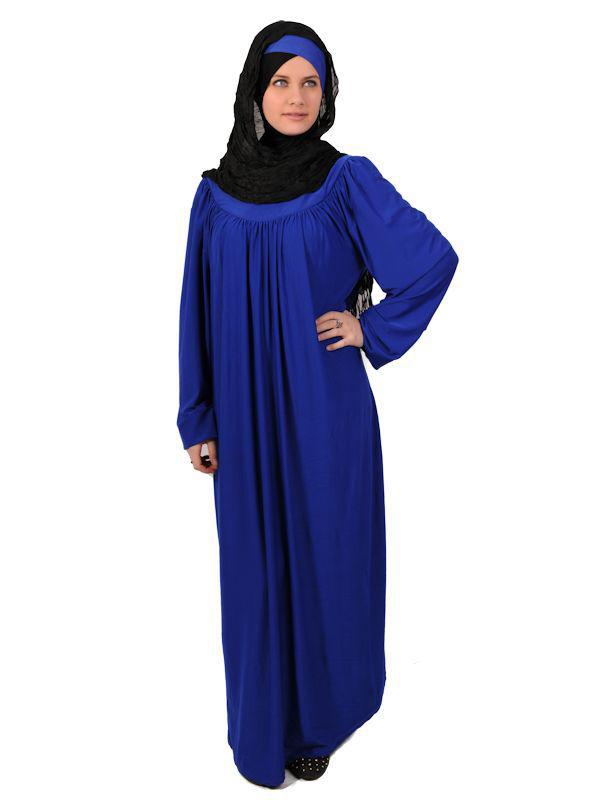 Hijab bleu roi