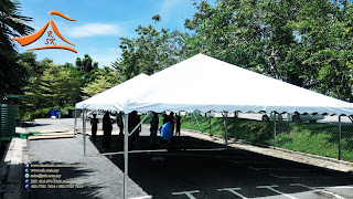 20 x 20 Pyramid Canopy c/w Metal and Canvas - Our client have requested to supply a 20' x 20' Pyramid Canopy to use in a Surau Al-Kauthar Kota Seriemas, Nilai, Negeri Sembilah.  Since its near to #HariRayaPuasa alot of our clients a requesting for supply for #Arabian and #Pyramid Canopy for #bukapuasa