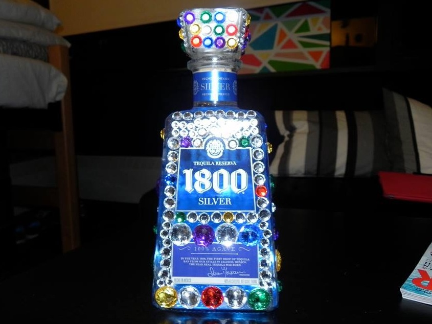 After The Bubble Blinged Out Bottle Mesmerizing Decorated Alcohol Bottles For Birthday