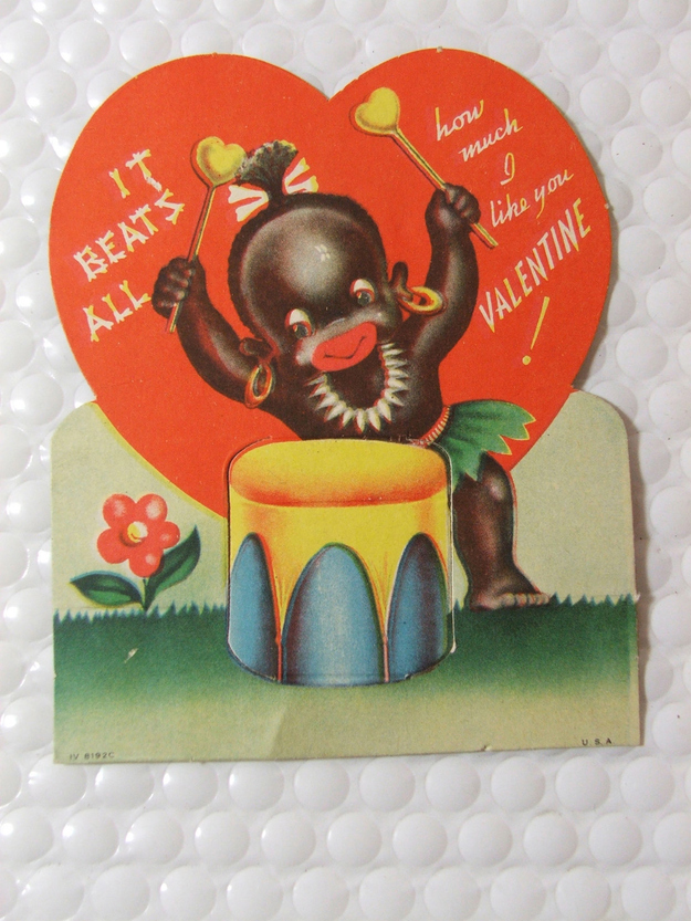 vintage everyday 15 Unbelievably Racist Vintage Valentines Day – Vintage Valentine Card Images