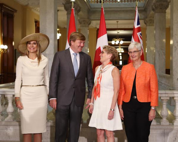 Kathleen Wynne King Willem-Alexander and Her Majesty Queen Maxima of the Netherlands to Ontario