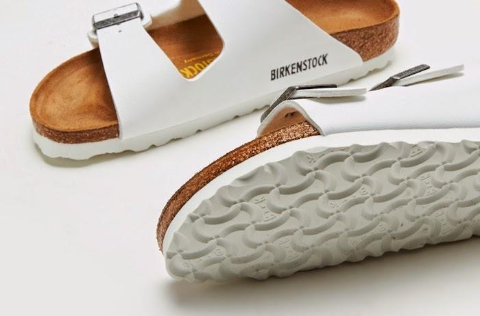 birkenstocks bianche