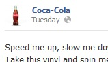 Example of a Page post (Coca-Cola)