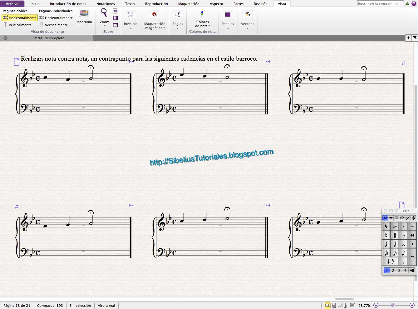 Creando hojas de ejercicios rápidas con Sibelius. | Notación musical ...