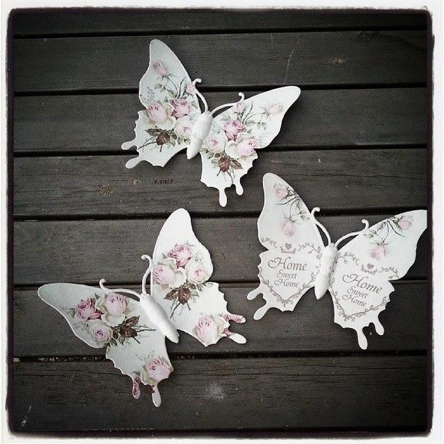 Silly 39 s wonderlijke freubels brocante vlinders home sweet home - Deco kleur muur decoratie ...