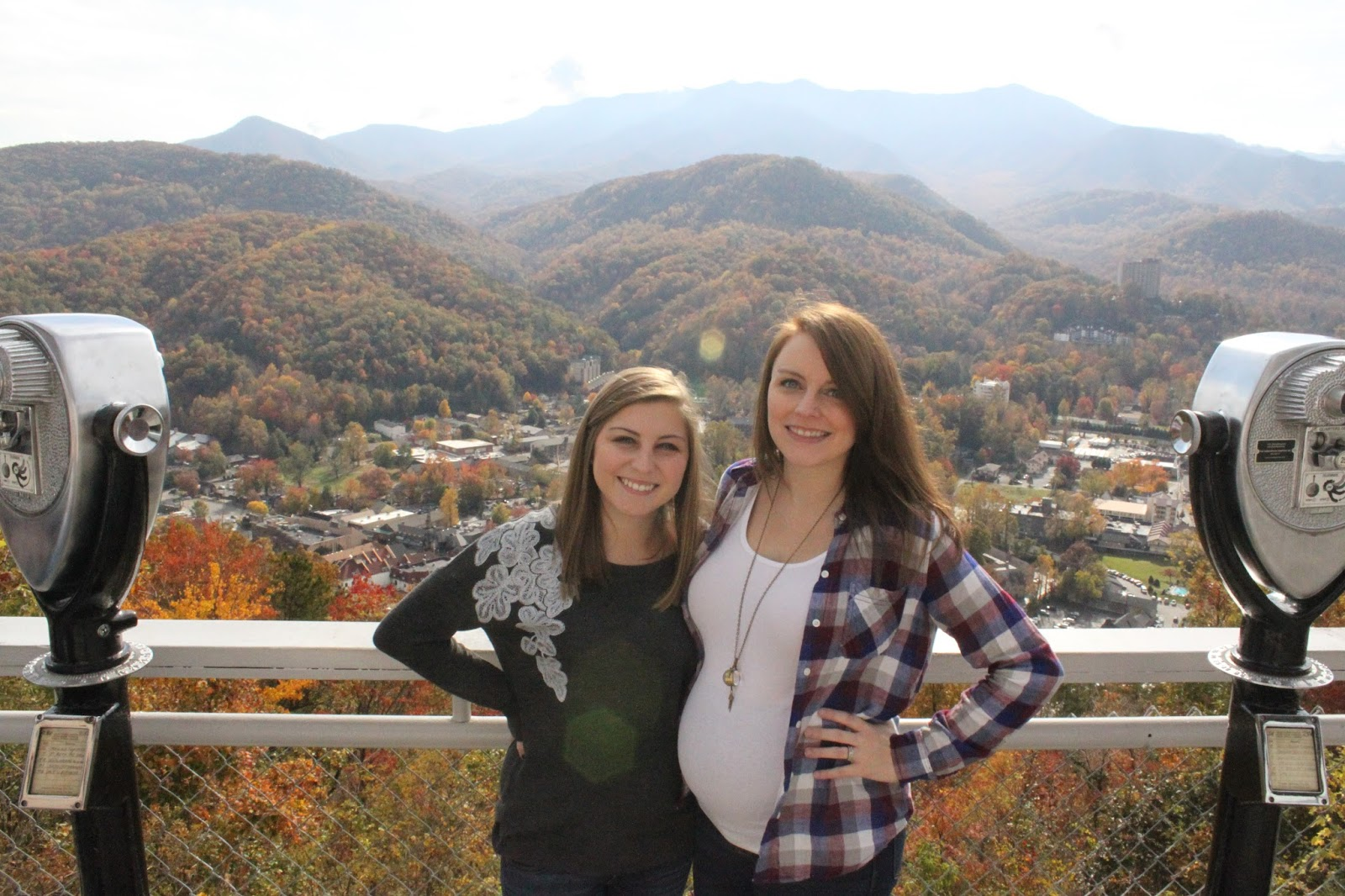 gatlinburg, mountain top, chair lift, autumn