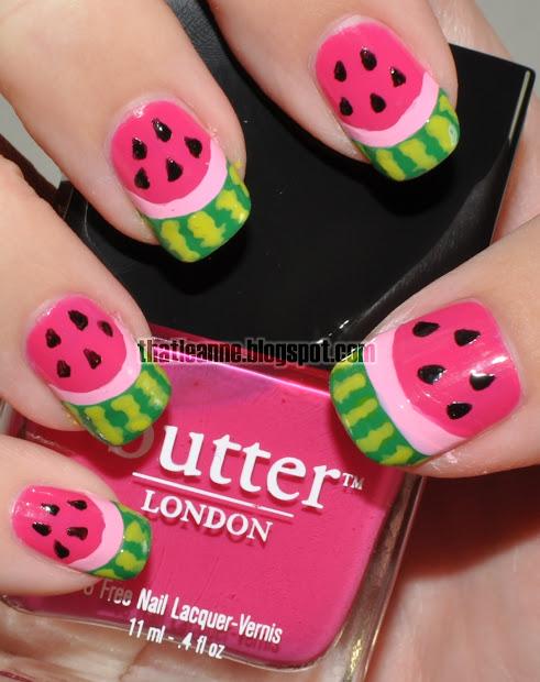 thatleanne watermelon nail art
