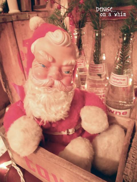 Vintage Santa Claus Vignette via http://deniseonawhim.blogspot.com