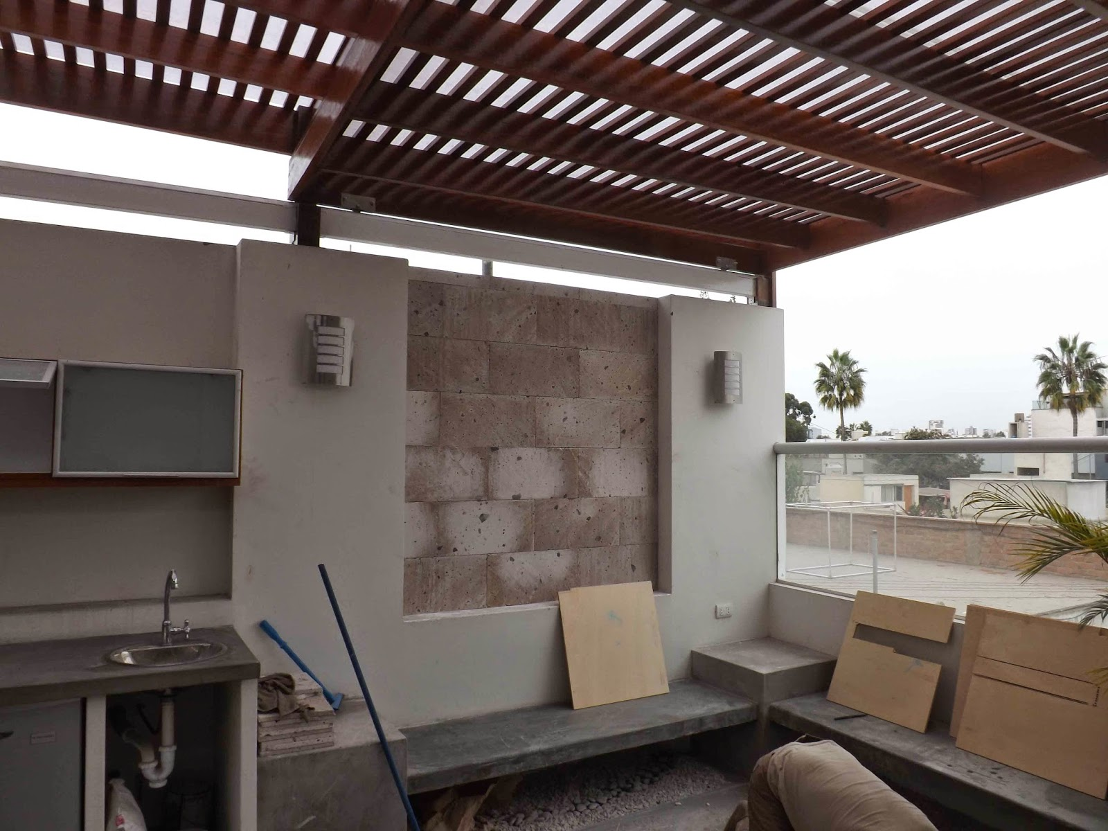 Oniria obra en proceso acabados en terraza - Diseno de terraza ...