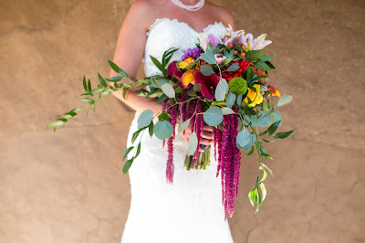 Jewel Tone Bridal Bouquet by Blake's Floral Design Reno l River School Farm l Jeramie Lu Photography l Take the Cake Event Planning