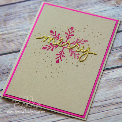 Holly Jolly Greetings Make In A Moment Merry Christmas Card