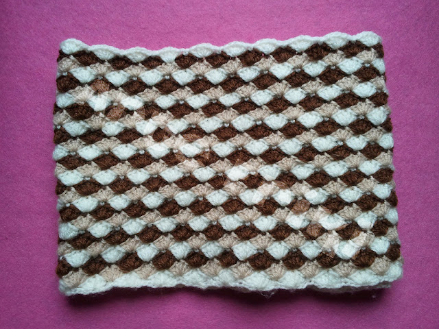 cuello braga crochet ganchillo punto concha