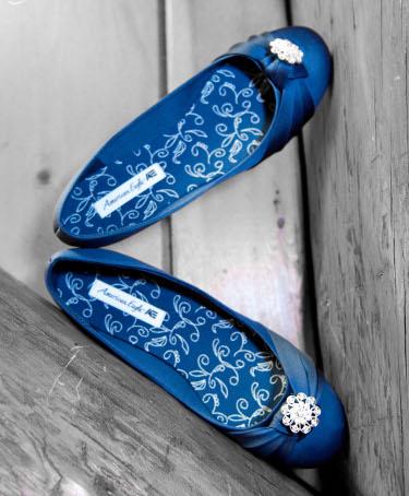 Blue Flats Bridal Wedding Shoes