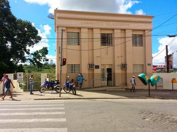 Agência dos Correios é assaltada em Ipiaú, na Bahia (Foto: Giro em Ipiaú.)