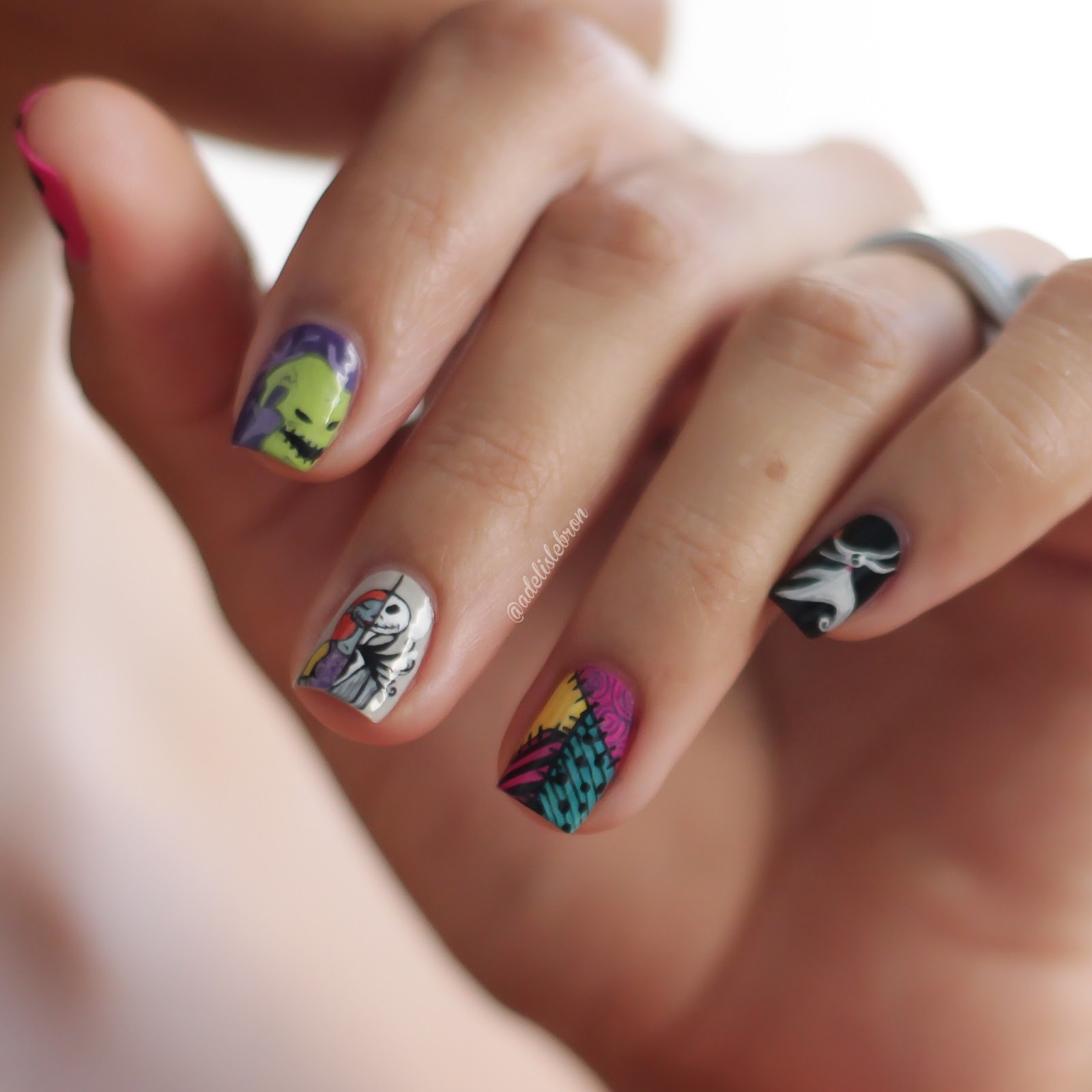 Adelis Lebron Nail Art The Nightmare Before Christmas Nail Art
