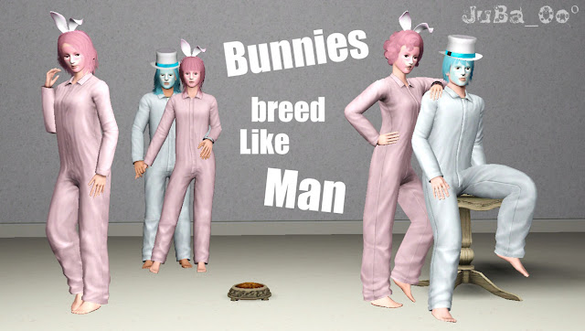 Bunnies Breed Like Man Pose Pack by JuBa_0o