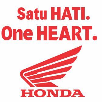 logo motor honda, satu hati, one heart