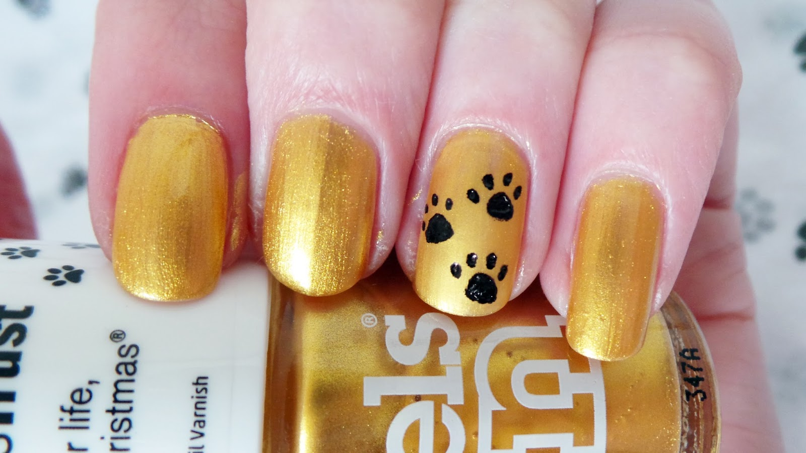 "Models Own Dogs Trust Limited Edition Nail Polish 25 Carat Gold - Review, Swatches, Giveaway ""A Dog is for life not just for christmas"" #presspaws campaign"