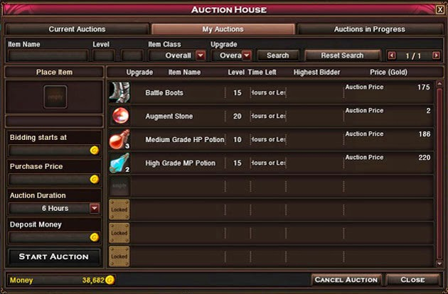 Auction Houses in MMORPGs