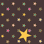 star chocolate pattern paper