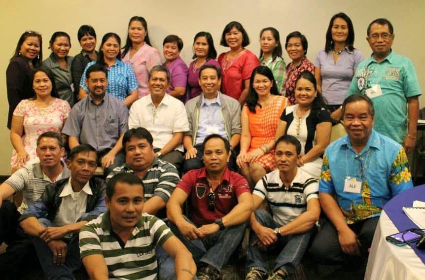 La Carlota School Principal-participants with Mayor Bambi Villarosa and Trustee Luigi Bernas
