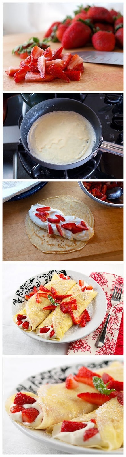 How To Make Strawberry White Chocolate Mousse Crepes