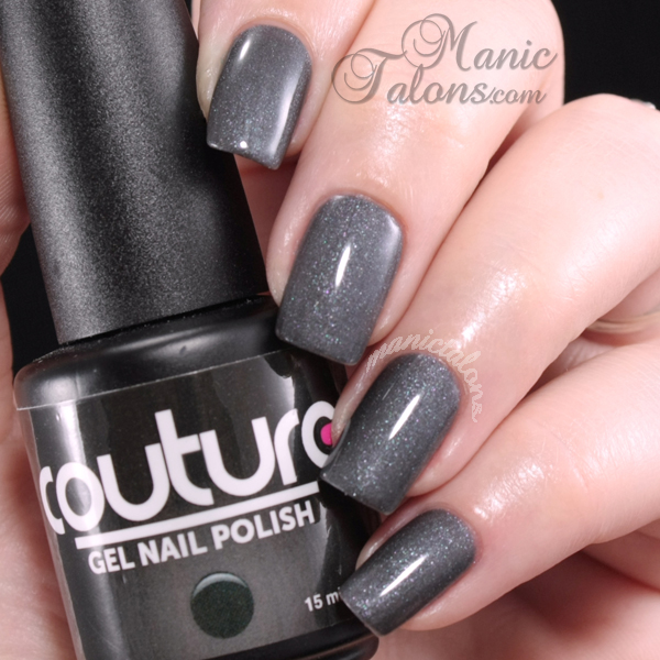 Manic Talons Nail Design: Dark Shimmers from Couture Gel Polish